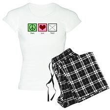 Peace Love Twirl pajamas
