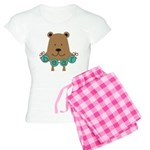 Cartoon Bear Women's Light Pajamas