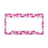 Love Hearts License Plate Holder Frame Gift