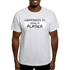 Happiness is Alaska Ash Grey T-Shirt