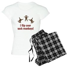 Flip Over Sock Monkeys Pajamas