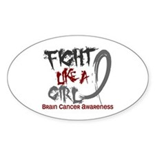 Fight Like A Girl Brain Cancer Decal