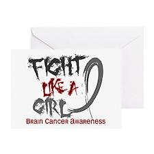 Fight Like A Girl Brain Cancer Greeting Card