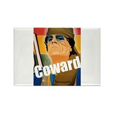 Qaddafi - The Great Coward Rectangle Magnet (10 pa