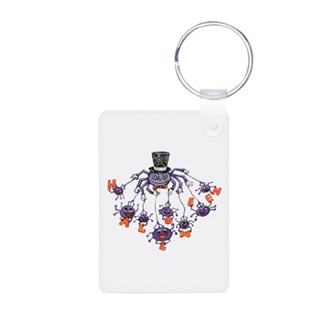 Halloween Spider Aluminum Photo Keychain