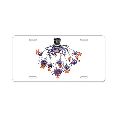 Halloween Spider Aluminum License Plate