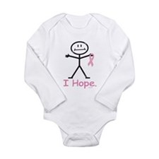 Breast Cancer Pink Ribbon Long Sleeve Infant Bodys