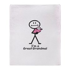 Great Grandma Baby Girl Throw Blanket