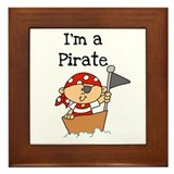 I'm a Pirate Framed Tile