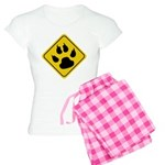Cat Crossing Sign Women's Light Pajamas