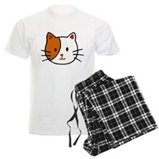 Calico Cat Cartoon Pajamas