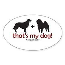 Lab/Chow Oval Decal