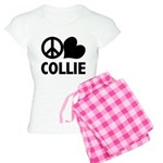 Peace Love Collie Women's Light Pajamas