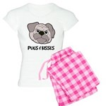 Pugs And Kisses Women's Light Pajamas