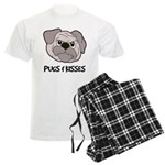 Pugs And Kisses Men's Light Pajamas