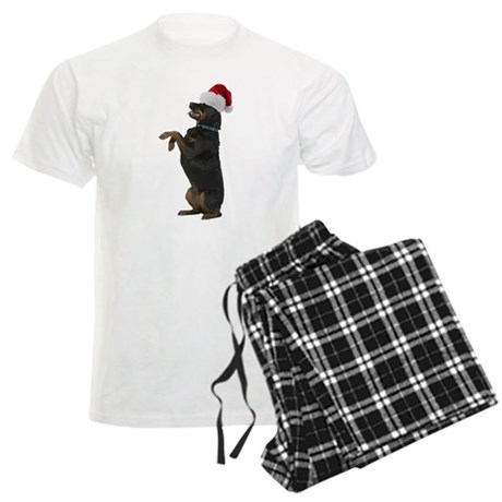 Santa Rottweiler Men's Light Pajamas
