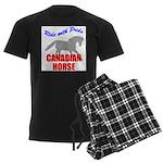 Ride With Pride Canadian Hors Men's Dark Pajamas
