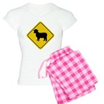 Sheep Crossing Sign Women's Light Pajamas