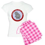 Hippo Talk To The Tail Women's Light Pajamas