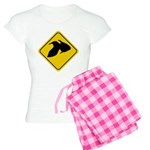Goldfish Crossing Sign Women's Light Pajamas