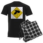 Goldfish Crossing Sign Men's Dark Pajamas