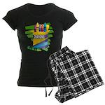 Crayons Women's Dark Pajamas