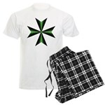 Green Maltese Cross Men's Light Pajamas