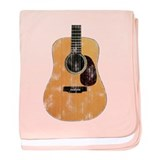Acoustic Guitar (worn look) baby blanket
