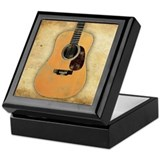 Acoustic Guitar (worn look) Keepsake Box