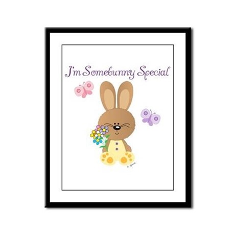 Special Easter Bunny Framed Panel Print