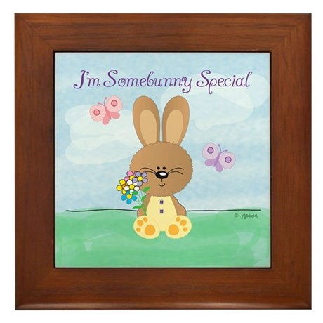 Special Easter Bunny Framed Tile