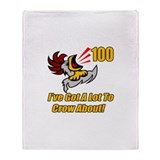 100th Birthday Throw Blanket
