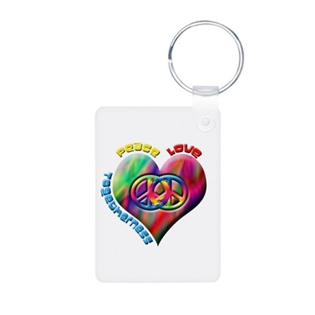 Peace Love Togetherness Aluminum Photo Keychain
