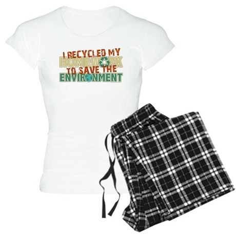 Recycled Homework Women's Light Pajamas