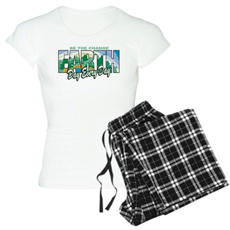 Earth Day Be The Change Women's Light Pajamas
