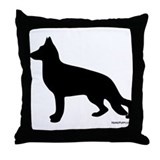 GSD Silhouette Throw Pillow