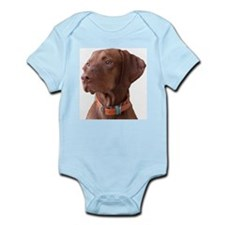 "Vizsla head shot of ""Tru"" Infant Creeper"