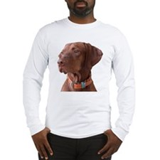 "Vizsla head shot of ""Tru"" Long Sleeve T-Shirt"