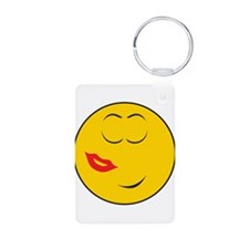 Been Kissed Smiley Face Keychains