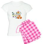 Cute Garden Time Baby Ducks Women's Light Pajamas