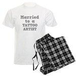 Married to a Tattoo Artist Men's Light Pajamas
