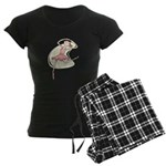 Retro Ballerina Girl Women's Dark Pajamas