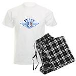 Patriotic Peace Design Men's Light Pajamas
