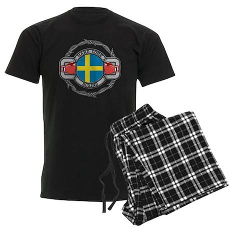 Sweden Boxing Men's Dark Pajamas