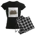 Silly Little Sleeping Bear Women's Dark Pajamas