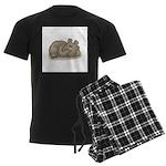 Silly Little Sleeping Bear Men's Dark Pajamas