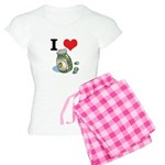 I Heart (Love) Green Olives Women's Light Pajamas
