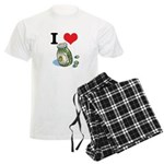 I Heart (Love) Green Olives Men's Light Pajamas