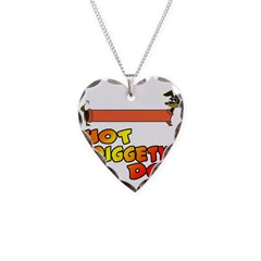 Hot Diggety Dog Daschund Necklace Heart Charm