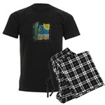 Cactus Desert Scene Men's Dark Pajamas